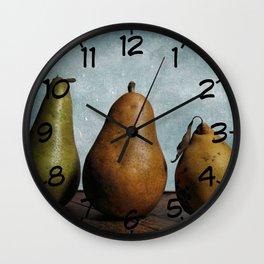 Three Pears - Still Life Wall Clock