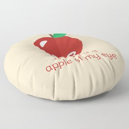 You're the Apple of My Eye Floor Pillow