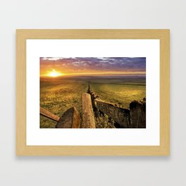Sunrise over Castleton. Framed Art Print