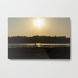 Evening Canoe Metal Print