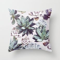 Succulents design Throw Pillow