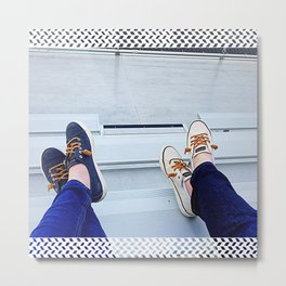 Bleacher Shoes & Blue Jeans Metal Print