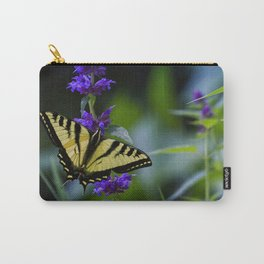 Butterfly on a Purple Flower Carry-All Pouch
