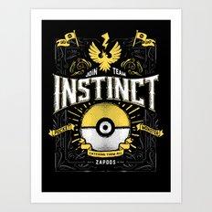 An Instinctual Decision Art Print