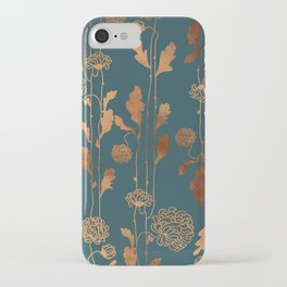 Art Deco Copper Flowers iPhone Case