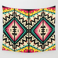 tribal Wall Tapestries featuring Tribal by Ornaart