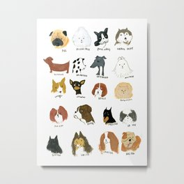 DOG FRIEND Metal Print