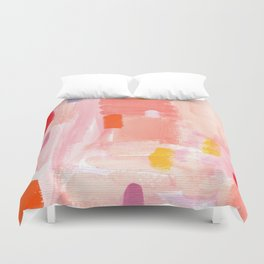 Put Sorrows In A Jar - abstract modern art minimal painting nursery Duvet Cover