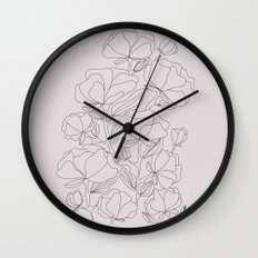 flowers, with love Wall Clock