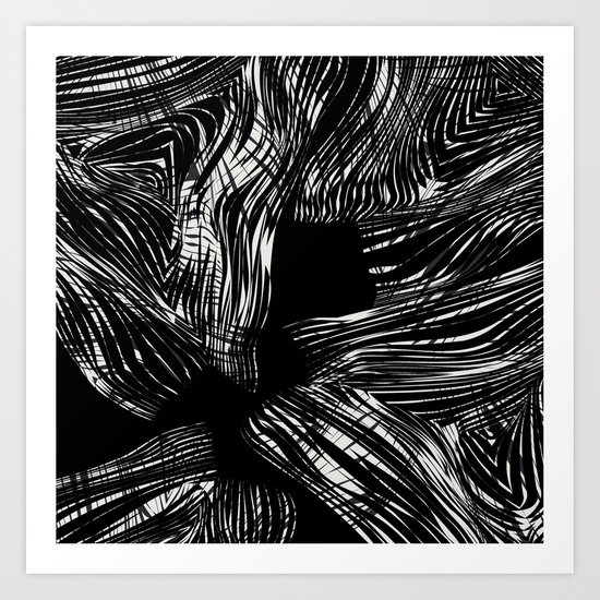 looking for darkness Art Print