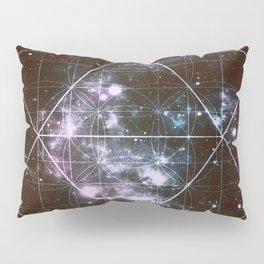 Galaxy Sacred Geometry dark Pillow Sham