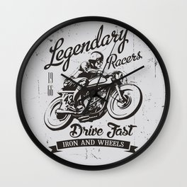 Motorcycle Club, Racer's, Fast Drive Wall Clock