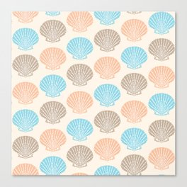 Pastel Marine Pattern 06 Canvas Print