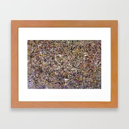 Intergalactic - abstract painting by Rasko Framed Art Print