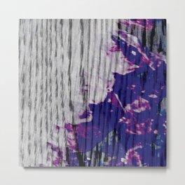 Violet Grain Metal Print