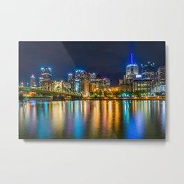 The Pittsburgh Skyline No. 2 Metal Print