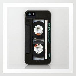 Classic retro sony cassette tape iPhone 4 4s 5 5c, ipod, ipad, tshirt, mugs and pillow case Art Print