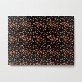 Metallblumen mit schwarzen Hintergrund Metal Print