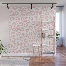 Blush pink modern leopard pattern watercolorpattern Wall Mural