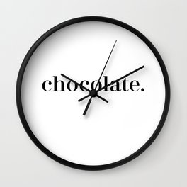 Simply Chocolate Wall Clock