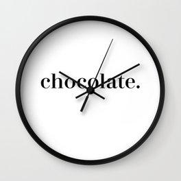 Simply Chocolate Wall Clock