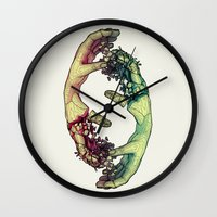 lovers Wall Clocks featuring Lovers by FalcaoLucas