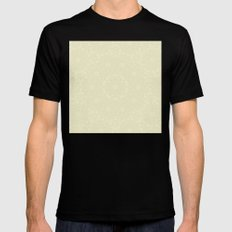 Delicate ivory colored kaleidoscope Mens Fitted Tee Black MEDIUM