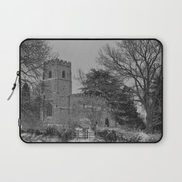 St Botolph's Church, Rugby Black and White Laptop Sleeve