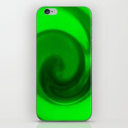 Green tie dye iPhone Skin