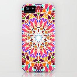 Rainbow sun mandala iPhone Case