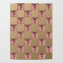 Checkerboard Pussy 2 Poster