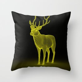 numeric deer 4 Throw Pillow