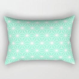 Aqua Geometric Flowers and Florals Isosceles Triangle Rectangular Pillow