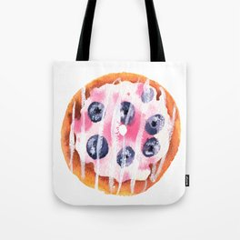Blueberry Donut Tote Bag