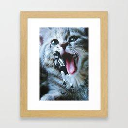 AC/DC/CAT Framed Art Print