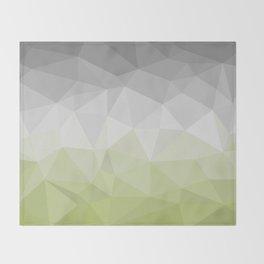 light green and grey polygon Throw Blanket