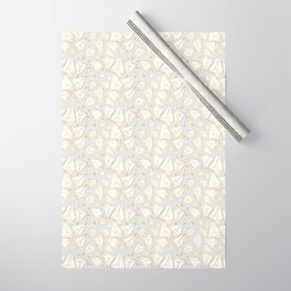 Paper Airplanes Faux Gold on Grey Wrapping Paper