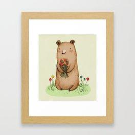 Bear Bouquet Framed Art Print