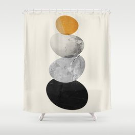 Abstraction_Balance_ROCKS Shower Curtain