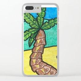 Tropical Beach Clear iPhone Case