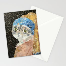 Cat Without A Pearl Earring Stationery Cards