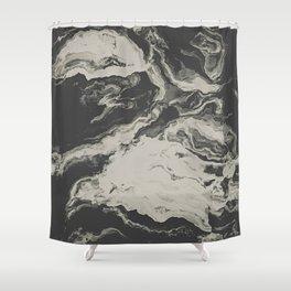 Marble Print Shower Curtain