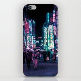 Heart Full Of Neon: Cyberpunk Overload Canvas Print iPhone Skin