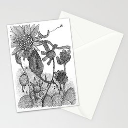 The Sun at night Stationery Cards
