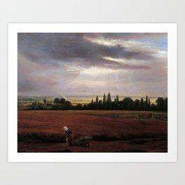 Johan Christian Claussen Dahl - Landskap i nærheten av Dresden Art Print