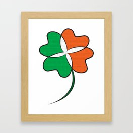 Irish Clover Framed Art Print