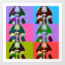 Aleister Crowley Pop Art Art Print