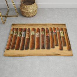 Cigar Sampler Painting Cigars Rug