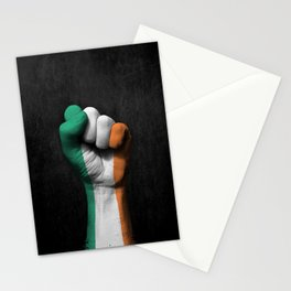 Irish Flag on a Raised Clenched Fist Stationery Cards