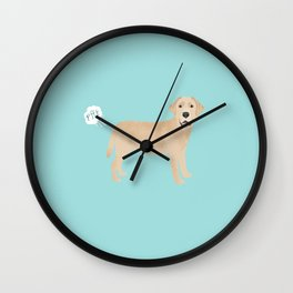 Yellow Lab funny fart dog breed gifts labrador retrievers Wall Clock